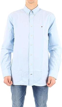 Tommy Hilfiger - Camisa de verano para hombre - Azul - talla de marca XXL: Amazon.es: Ropa y accesorios