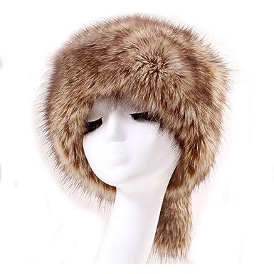 de547f34 Faux Fox Fur Cossack Russian Style Women Cap/Chapka/Hat For Winter  (Colour5): Amazon.co.uk: Clothing