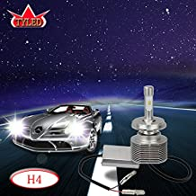 TYLED 30W 4000LM H4 Auto LED Headlight Conversion Kit High Brightness Pure White 6000K Hi/Lo Beam PHILIPS ZES CHIP Bulbs LED Headlamp(Pack of 2)