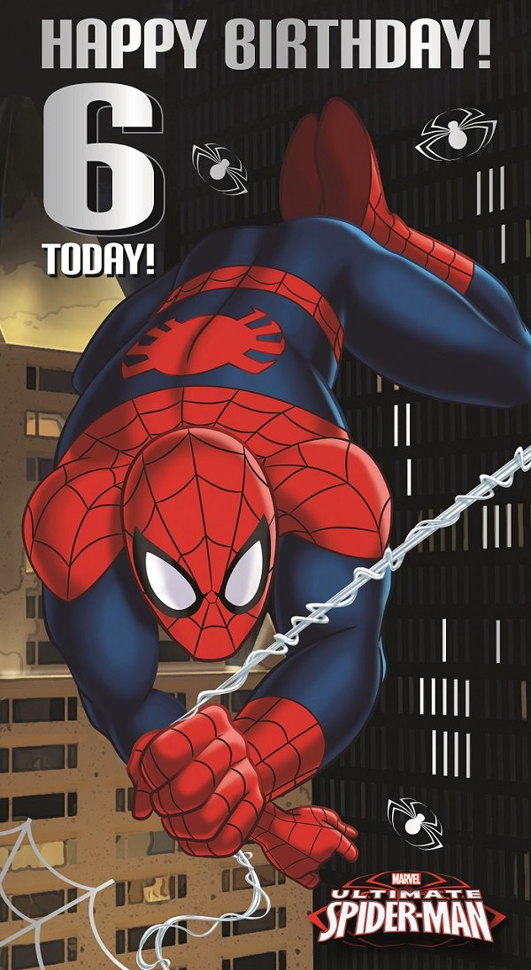 ultimate spiderman birthday card age 6 amazoncouk electronics