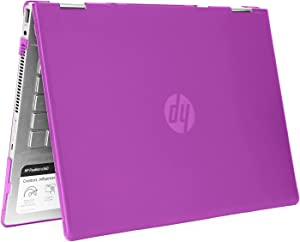 """mCover Hard Shell Case for 14"""" HP Pavilion X360 14-CDxxxx / 14-DDxxxx Series Convertible 2-in-1 laptops (Purple)"""