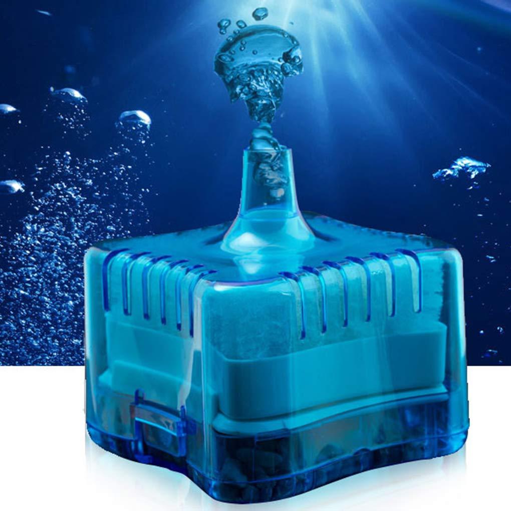 fish Mini Ronda Tienda Tank Súper neumático Bioquímica casa de Acuario Filtro de carbón Activado: Amazon.es: Hogar