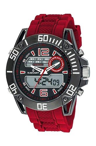 Radiant Reloj Cronógrafo para Hombre de Cuarzo con Correa en Caucho RA312603: Amazon.es: Relojes