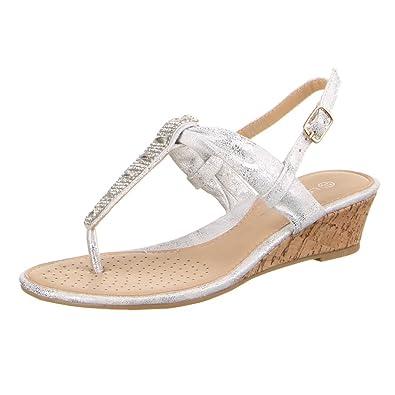 42223ae1410a30 Ital Design Damen Schuhe A4181 Sandalen Zehentrenner Mit