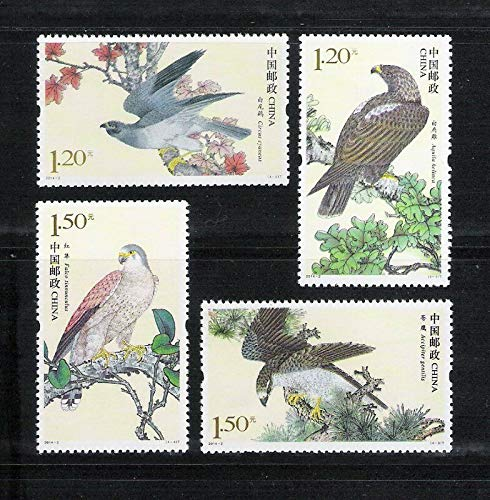 Serius Sale China Postage Stamp 2014-2 Birds of Prey (II) Eagle 4Pcs Stamps Mint New MNH