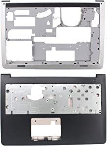 MOTOKU Laptop Palmrest Upper Case Keyboard Bezel and Bottom Case Base Cover Chassis Replacement for Dell Inspiron 15-5547 5542 5545 5548