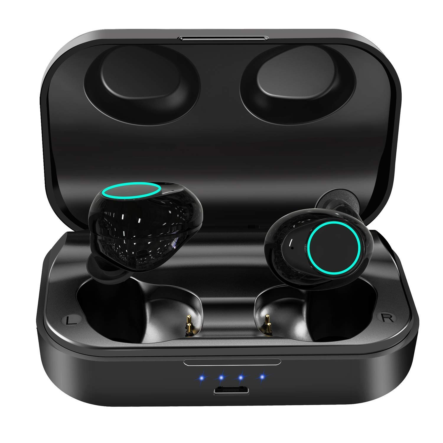 Wireless Earbuds, Bluetooth Headphones 5.0 with 150Hs Playtime, Lightweight Headsets Deep Bass 3D Stereo Sound Bluetooth Earbuds, Siri, 3000mAh Charging Case, IPX6 Waterproof