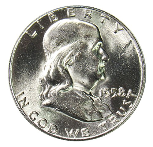1958 D Silver Franklin Half Dollar 50¢ Brilliant Uncirculated