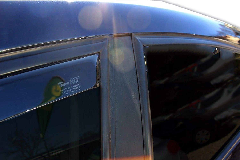 J J Automotive Windabweiser Regenabweiser Für Seat Leon Ii 4 Türer 2006 2012 4tlg Heko Dunkel Auto
