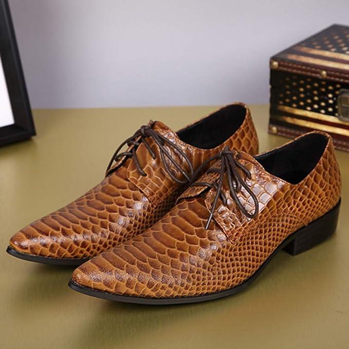 Fashion Homme à Lacets Bout Pointu Orteils robe formelle de mariage Low Top Business Chaussures NOUVEAU