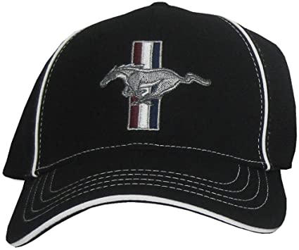 Ford Mustang Gt Fitted Flexfit Fine Embroidered Hat Cap Black