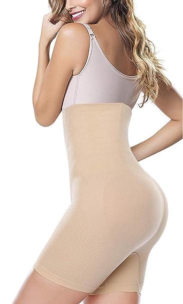 34079b60fc Women Slim Girdle Bodysuit Butt Lift Tummy Control Waist Trainer Weight  Loss Panty Beige