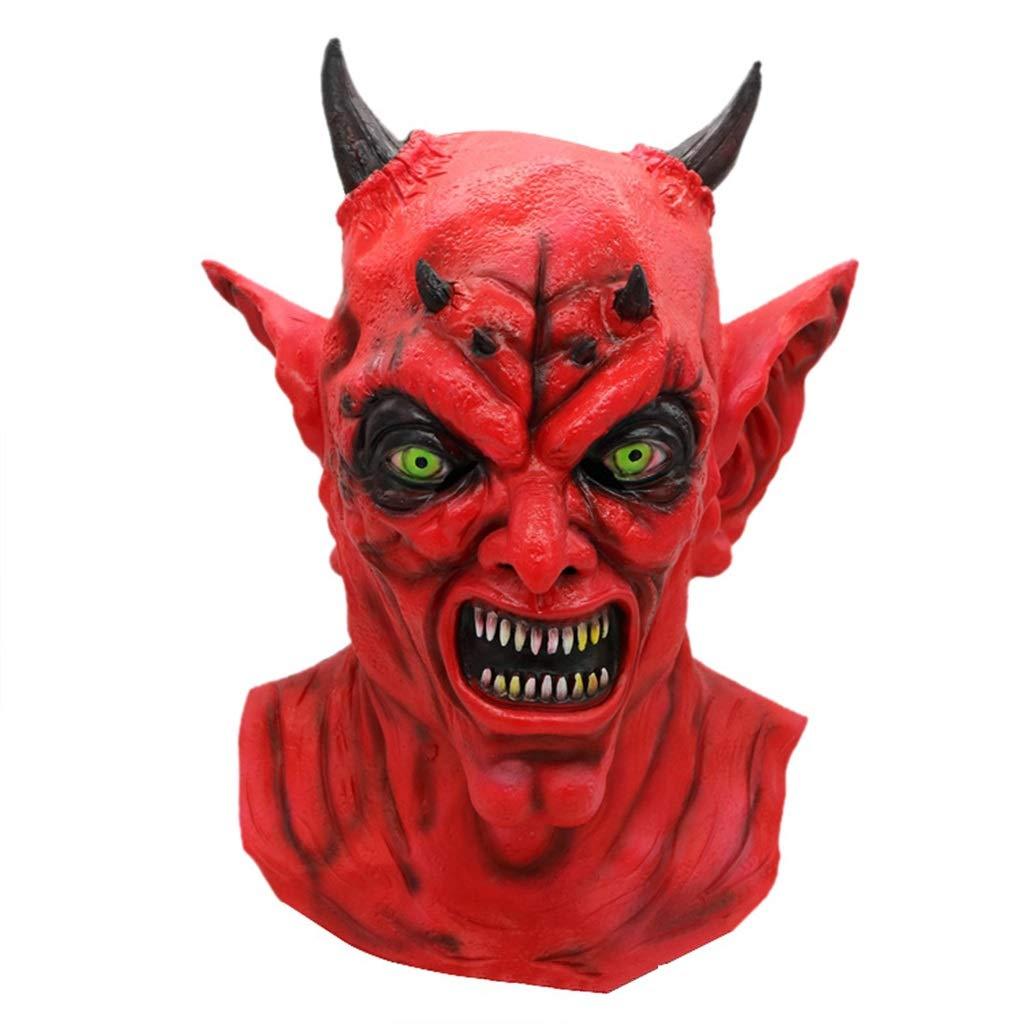 GXDHOME Maschere in Lattice di Halloween, casa stregata del Diavolo Monste Fantasma smorfia Costume Orrore Zombie Diavolo Diverdeente Mascherata Spaventoso Raccapricciante Vestito Operato
