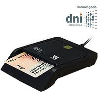 Woxter Lector DNI Electrónico Negro - Lector de DNI Electrónico Inteligente, DNI 3.0, Plug & Play, Compatible con PC y…