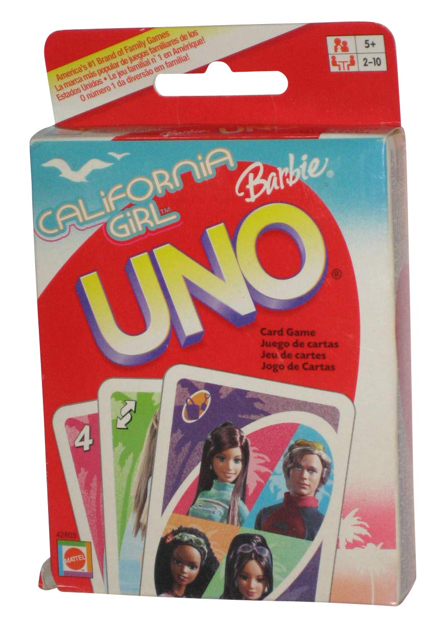 CALIFORNIA GIRL BARBIE UNO Card Game