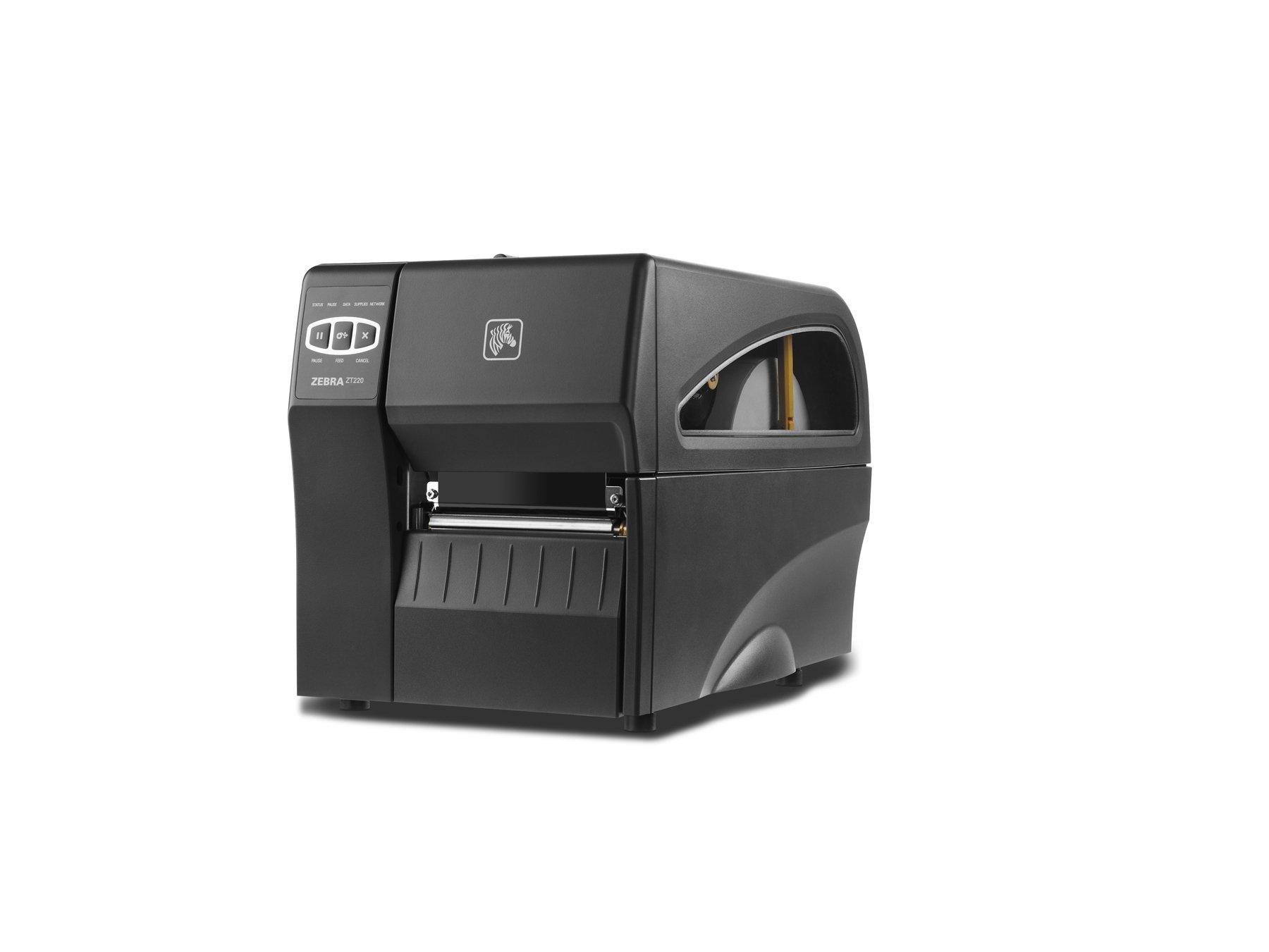 Zebra Technologies ZT22042-T01000FZ Printer, Standard ZT220 with Thermal Transfer, 4'' Print Width, 203 DPI Resolution, Tear Bar
