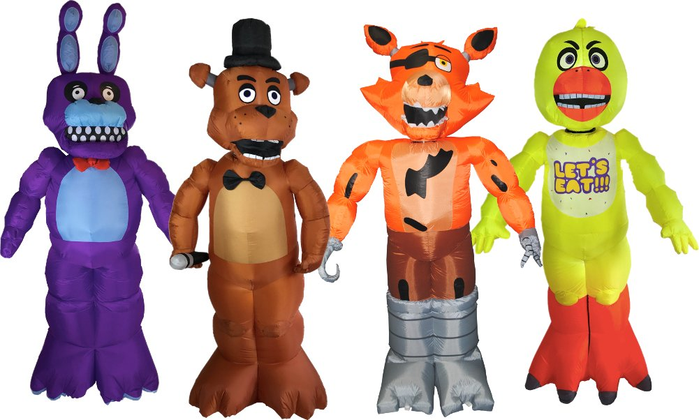 Five Nights At Freddy's Animatronic Inflatable Yard Decorations Bundle