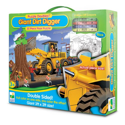 The Learning Journey Puzzle Doubles! Giant Dirt Digger Floor
