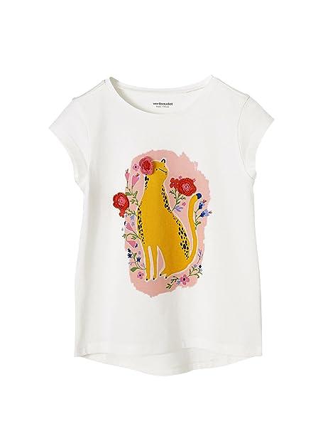VERTBAUDET Camiseta para Niña con Estampado y Bordado Blanco Claro Liso con  Motivos 14A  Amazon.es  Ropa y accesorios 4fb6b2f47a510