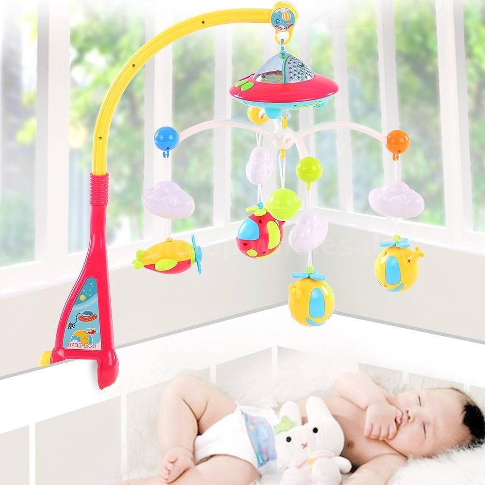 Baby Musical Mobile crib dreamland bed toy Projection with Light and Remote Bed Hanging Rotation Tot