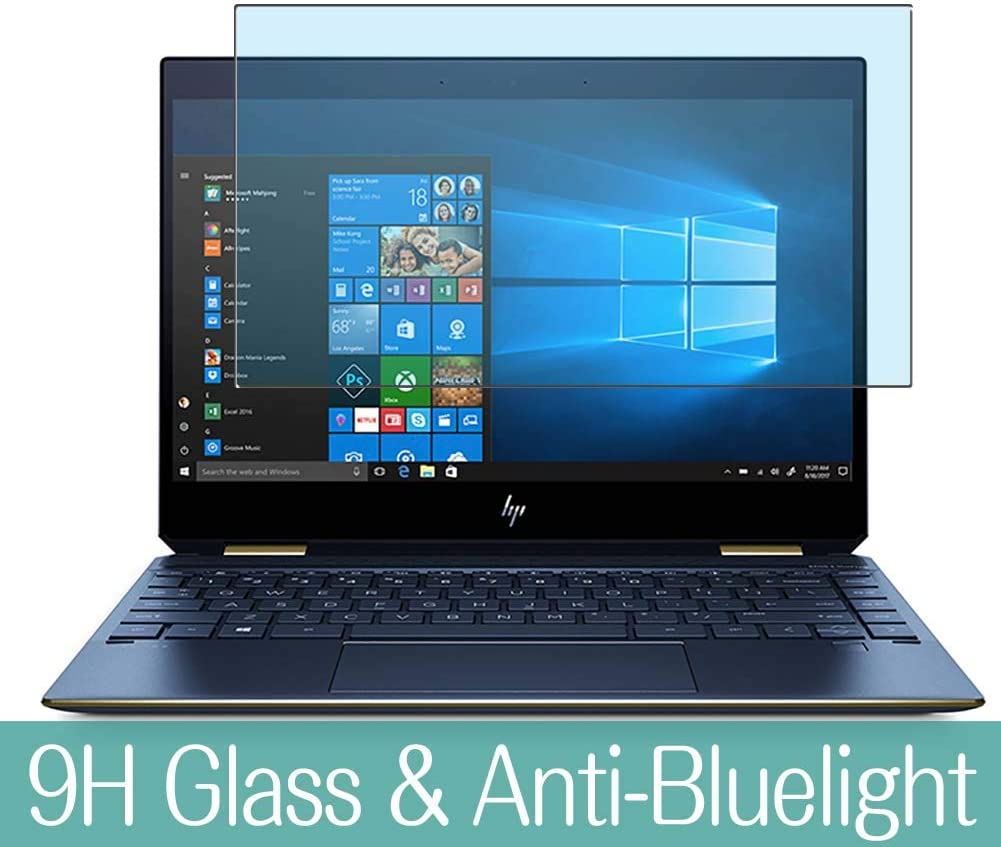 Synvy Anti Blue Light Tempered Glass Screen Protector Compatible with HP Spectre x360 13-ap0117ng 13.3 Inch Visible Area 9H Protective Screen Film Protectors (Not Full Coverage)