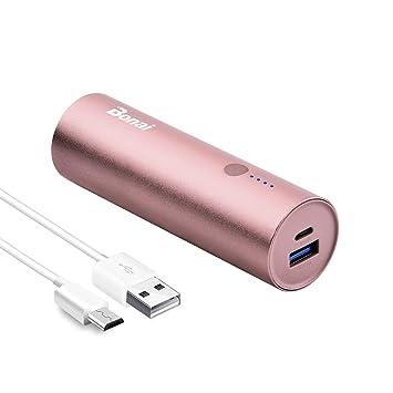 BONAI Bateria Externa para Movil, 5800mAh Powerbank Cargador Portatil para Samsung Huawei Xiaomi Android - Oro Rosa (con Micro Cable)