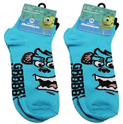 2 Pair Blue Sulley Monsters University Socks (Size 6-8)