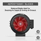 VIVOHOME 4 Inch 188 CFM Black Round Exhaust