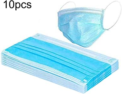 FlusRap Disposable Masks, Dust Protection 1 Bag 3 Layers Disposable Face Masks Medical, Salon, Dental Anti-Dust Face Safety Mask with Elastic Ear Loop
