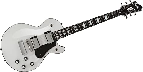 hagstrom Northen Series Northern Swede White + Maletín de guitarra eléctrica Single Cut
