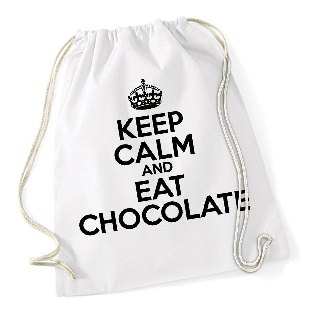 Certified Freak Keep Calm And Eat Chocolate Sac De Gym Blanc