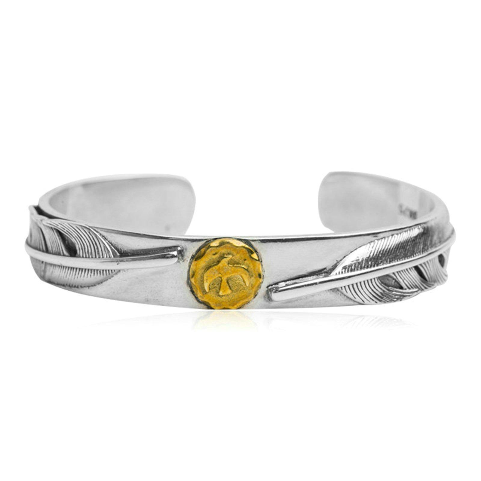 Daesar 925 Silver Bracelet For Men Opening Eagle Feathers Bracelet Silver