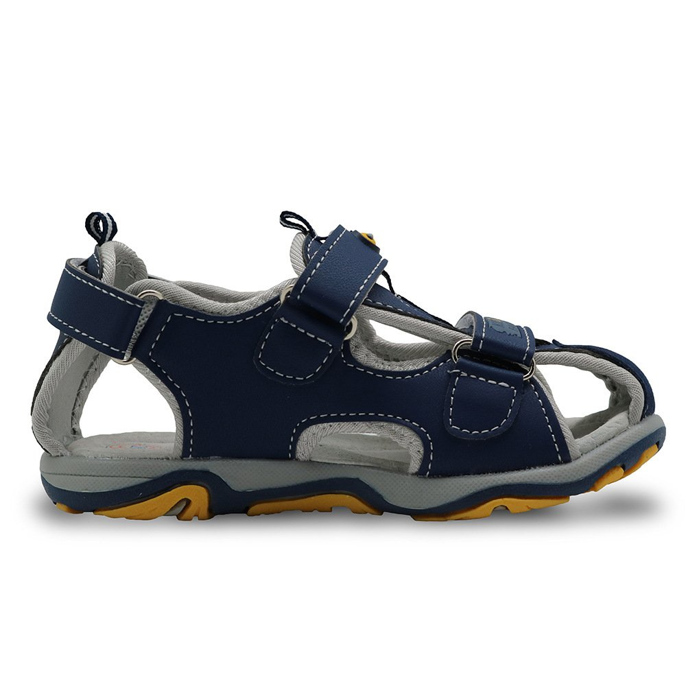 MUMUWU Boys Sport Sandal Closed Toe Outdoor Flats Athletic Beach Shoes Hook /& Loop Closure Sandals