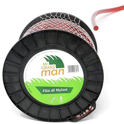 Mr. Grass Man - Hilo desbrozadora de Nailon, sección Redonda, 2, 4 ...