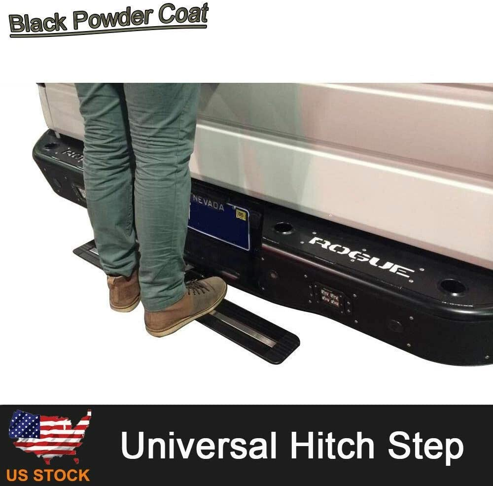 Receiver 35in Viksee Universal Hitch Step Bar Rear Step for 2in Long Black Painted Aluminium Truck SUV