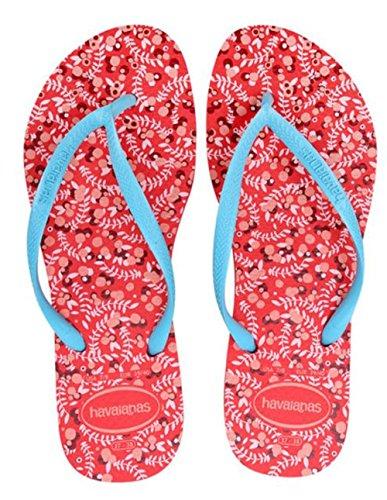 Havaianas Women's Slim Romance Flip Flops, Orange, 37/38 EU (7.5 B(M) US - Havaianas Orange