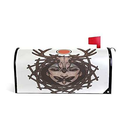 Amazon Com Bruyu5se Tribe Woman Deer Butterfly Magnetic Mailbox