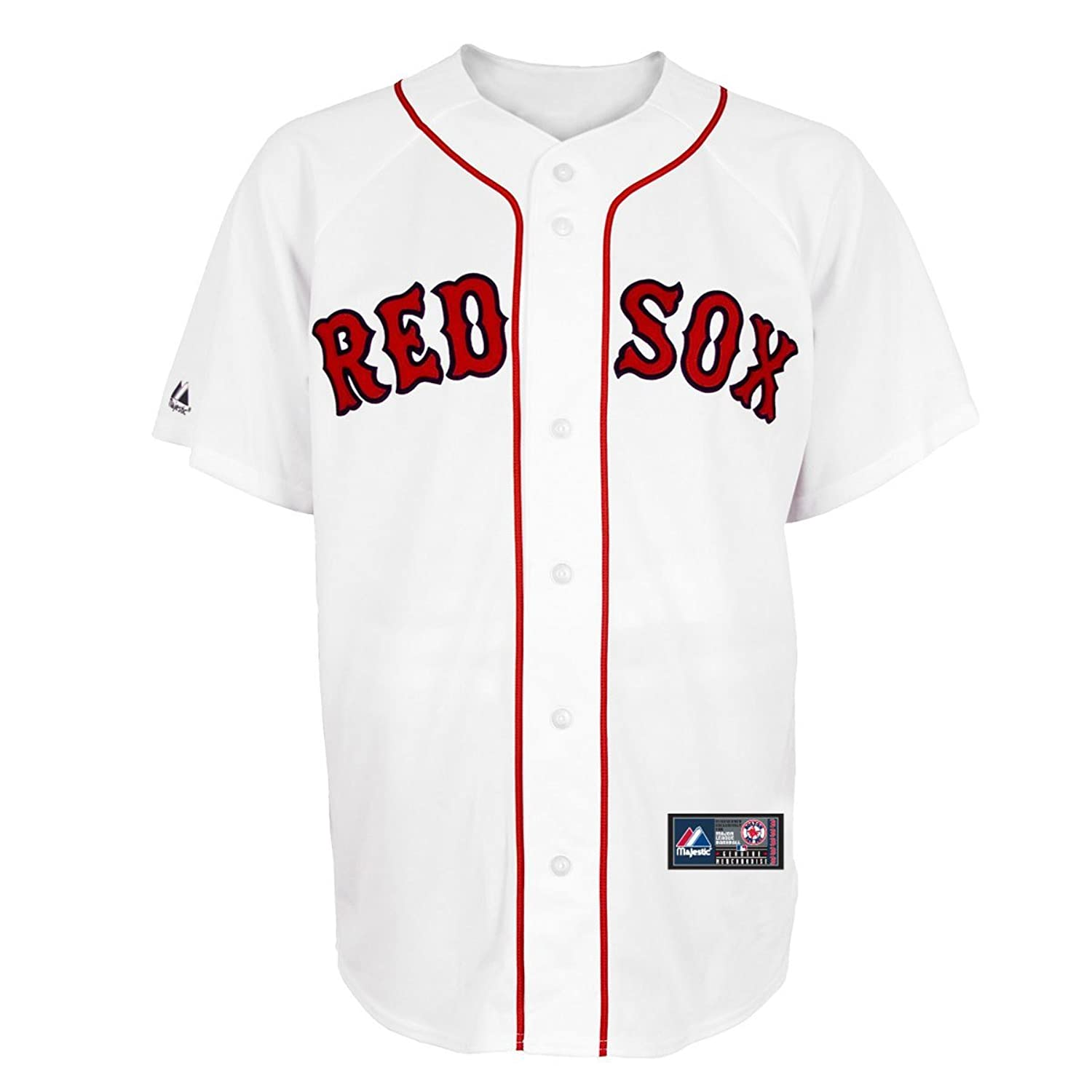 super popular e938f 315a2 OuterStuff Boston Red Sox Word Mark White Kids Authentic ...