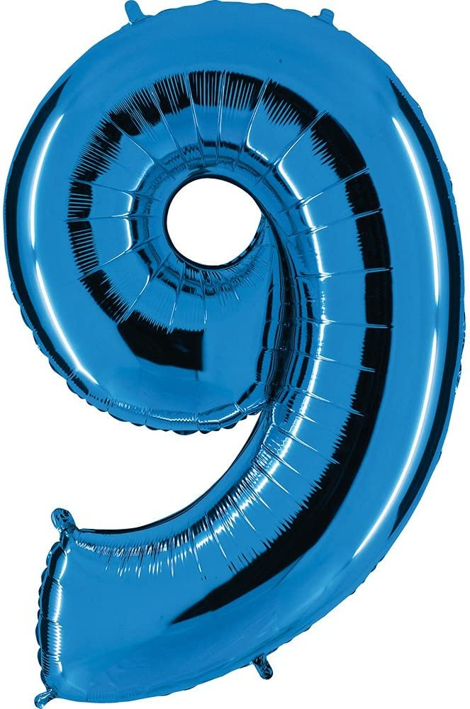 f/ür Geburtstag Jubil/äum /& Co XXL Riesenzahl 100cm Ballon Zahl in Blau Neun Zahl 0 Party Geschenk Dekoration Folienballon Luftballon Happy Birthday