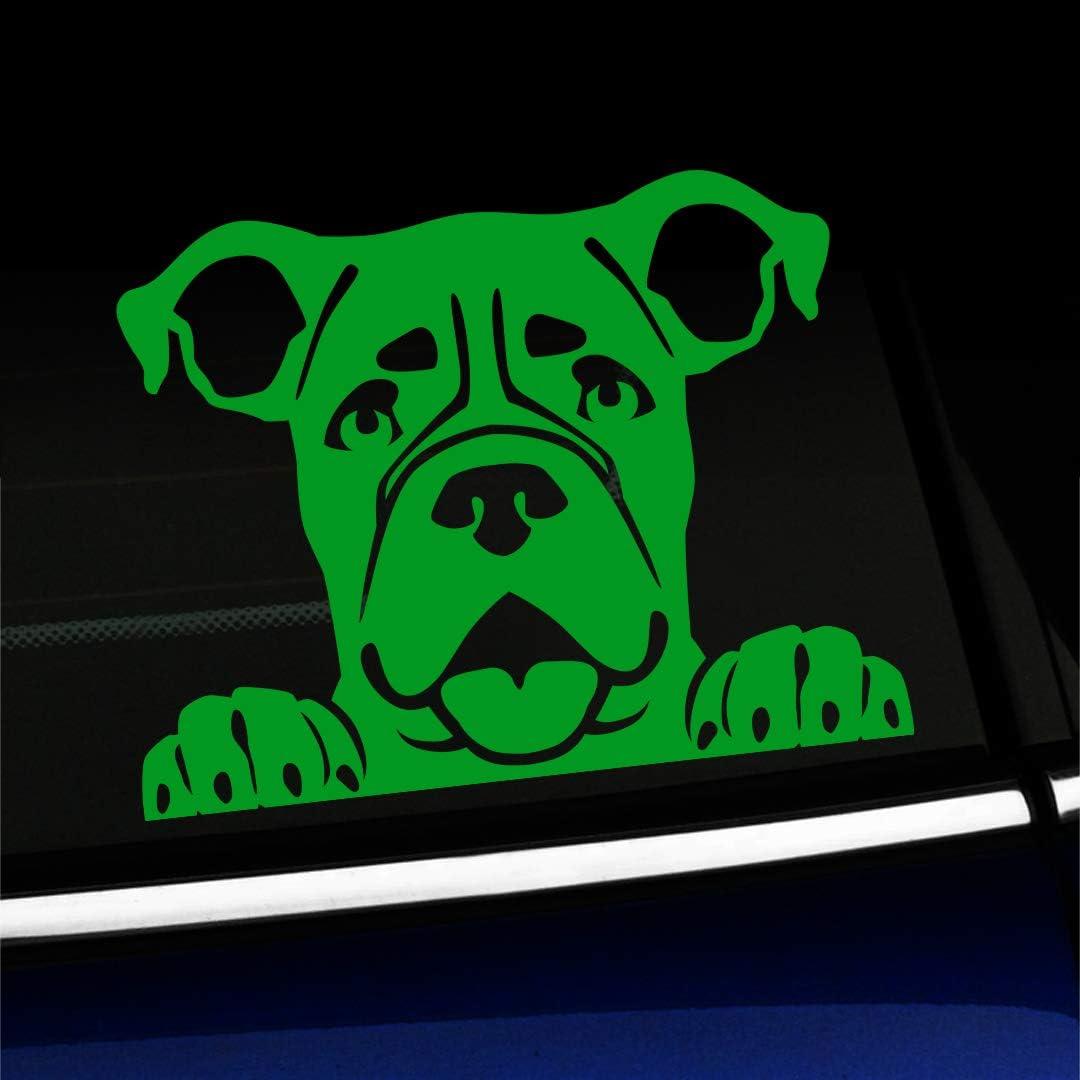 Peeking Boxer Dog Decal Vinyl Sticker Laptop Car Window CHOOSE COLOR!