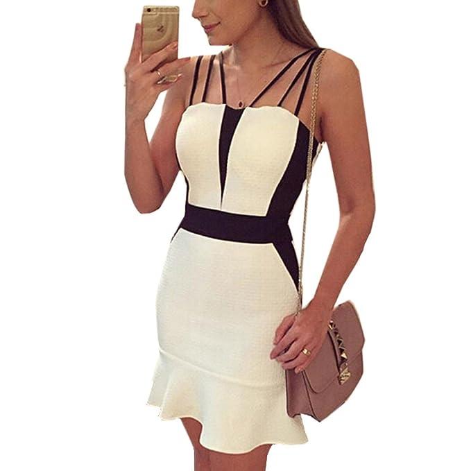 Senora atractiva caliente adelgazan el vestido Vestido con el cuerpo de las mujeres Sling