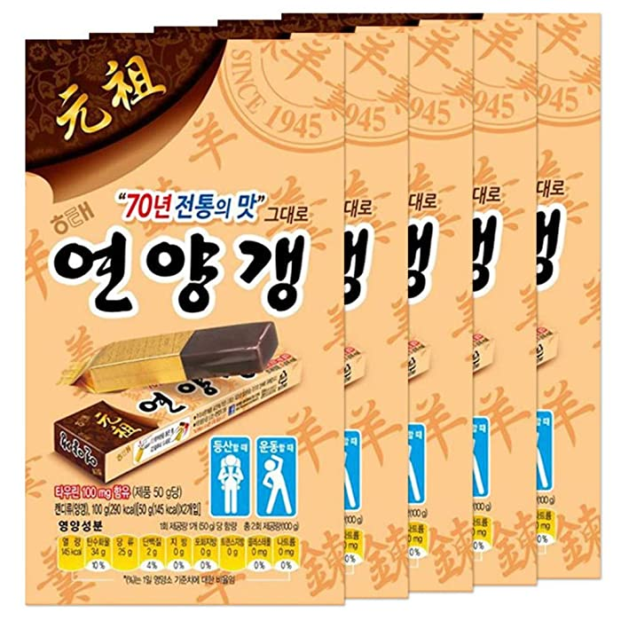 Haitai Sweet Red Bean Jelly | 50g | Pack of 10, Korean Snack, Yokan, Yangeng Traditional Korean Dessert, 연양갱