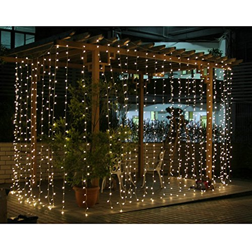 angelbubbles 300led window curtain icicle lights string. Black Bedroom Furniture Sets. Home Design Ideas