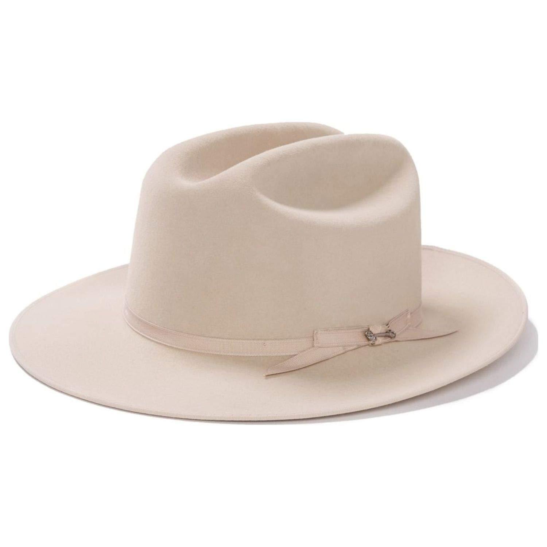 Stetson Men's 6X Open Road Fur Felt Cowboy Hat Silverbelly 7 1/4