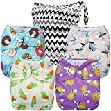 Anmababy 4 Pack Adjustable Size Waterproof Washable