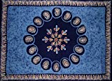Batik Tapestry Cotton Wall Hanging or Tablecloth 90'' x 60'' Blue