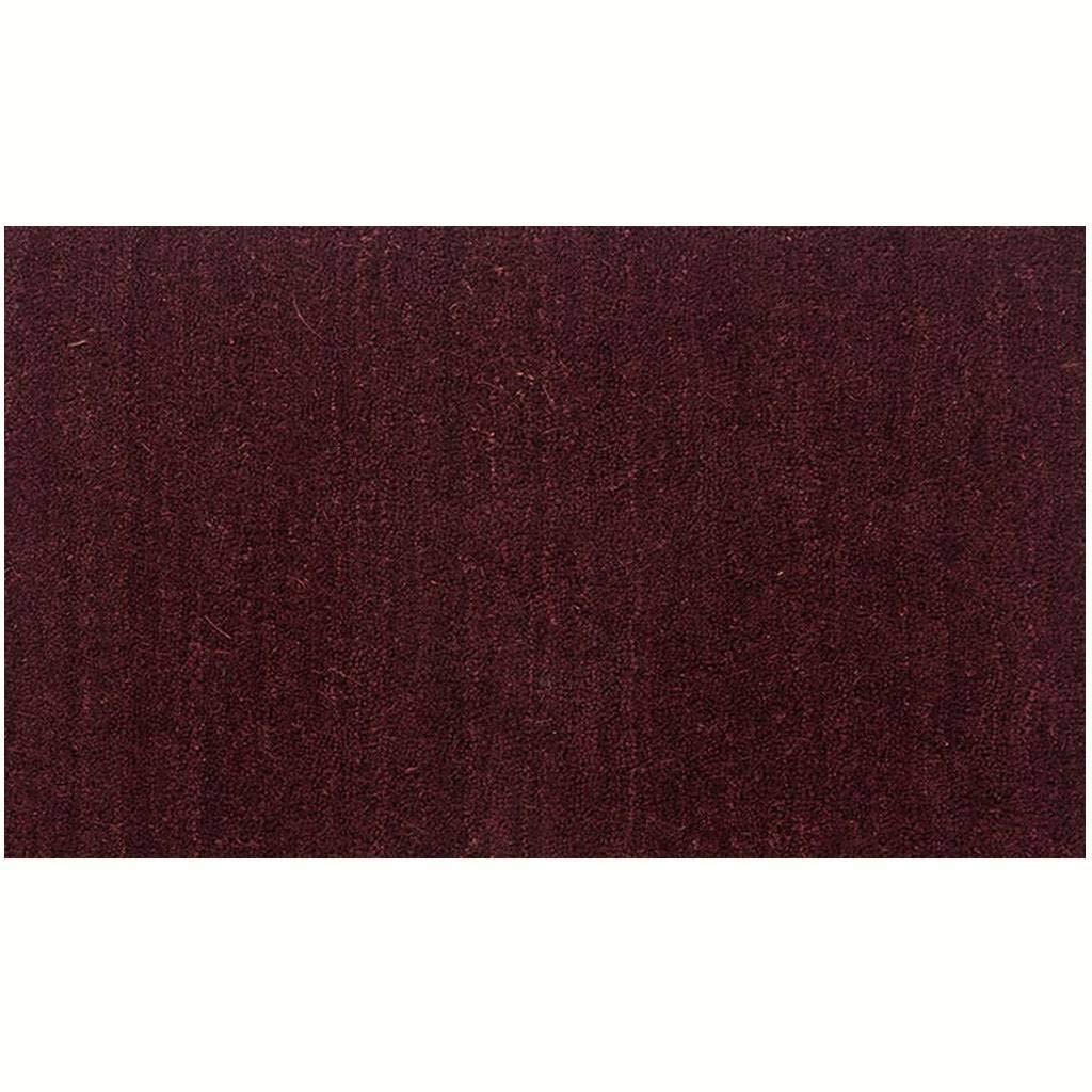 天然ココナッツの殻玄関マット、掃除が簡単滑り止めPVCバッキング柔らかい丈夫じゅうたん屋内/屋外-ワインレッド-100×150センチメートル(39×59インチ) 100×150センチメートル(39×59インチ) ワインレッド B07QXRQJZP