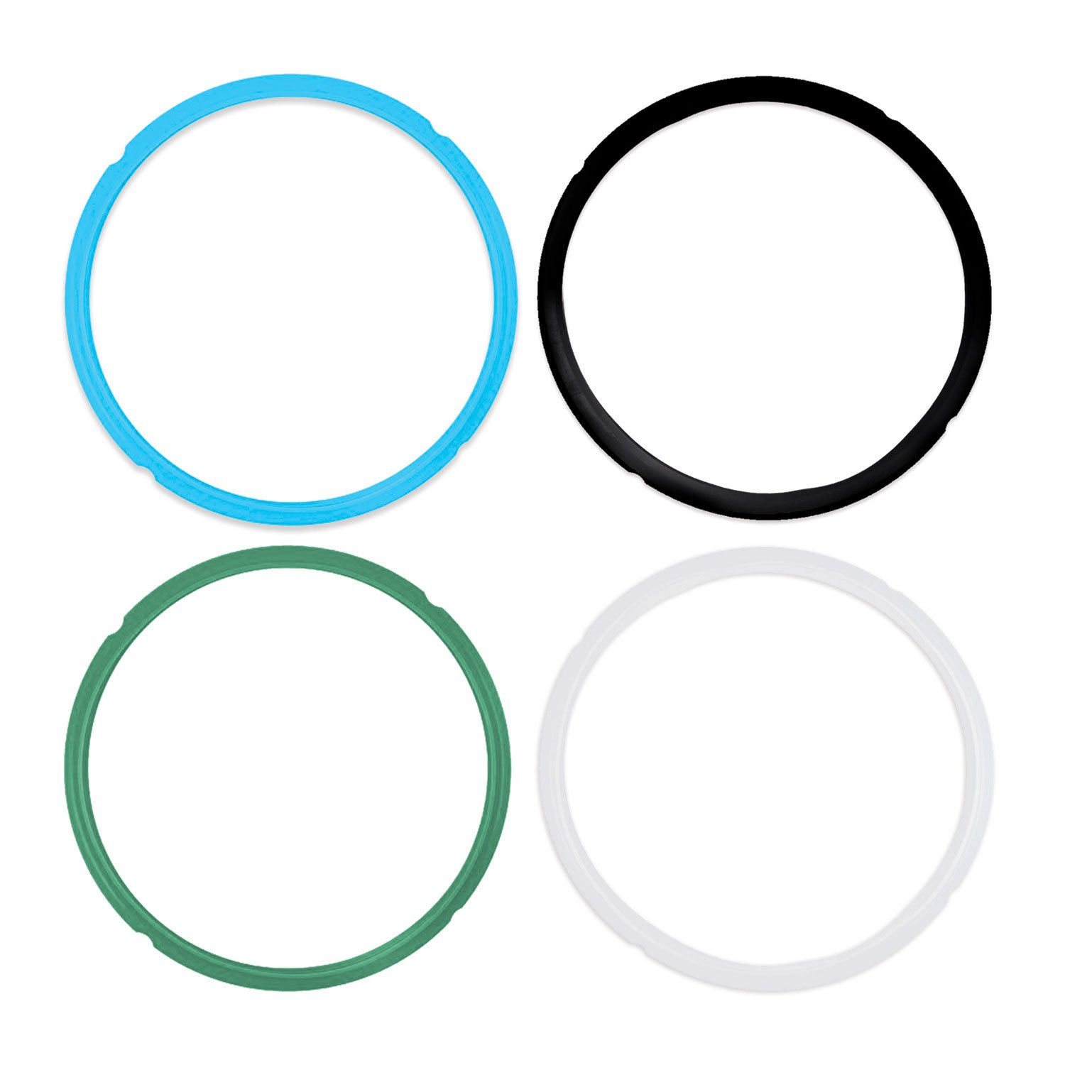 Pack of 4 Silicone Sealing Rings for Instant Pot 5 /& 6 Quart IP-LUX60 IP-LUX50 Smart-60 Fits IP-DUO60 IP-CSG60 and IP-CSG50 IP-DUO50