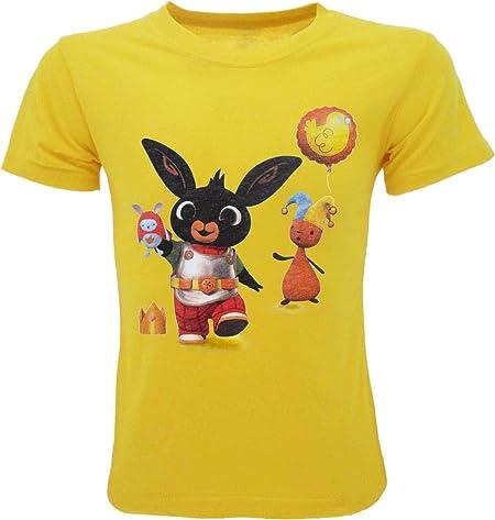 Sicem International srl Camiseta oficial de Bing y Flop Re Bing y máscara oficial amarilla para niño y niña