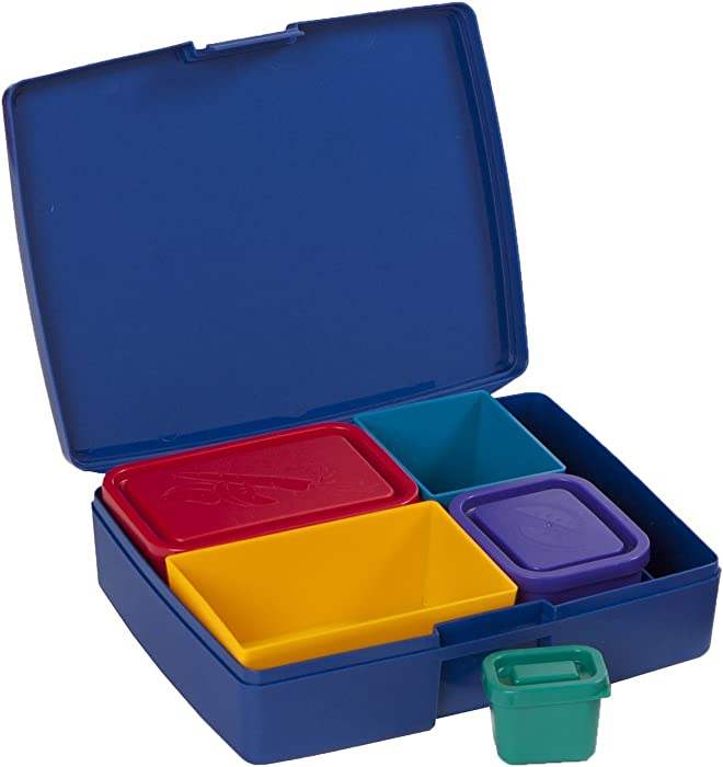 Laptop Lunches Bento-ware Bento Lunch Box with BPA-Free, Leak-proof Containers, Primary